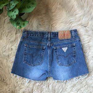 Guess Distressed Denim Cutoff Shorts